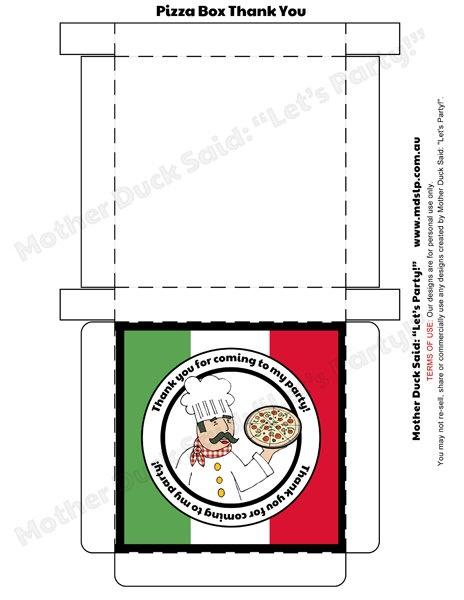 mini pizza box template 1