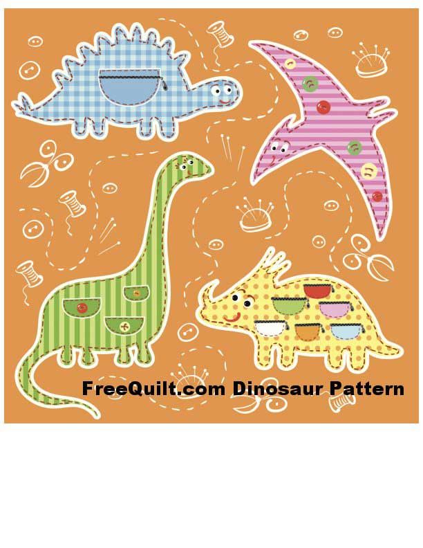 Dinosaur Pattern For Baby Quilt On Craftsy Grandbaby