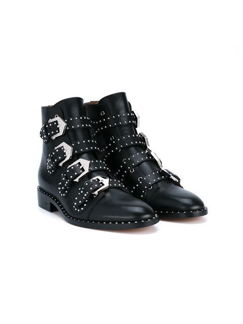 Givenchy bottines cloutées à boucles