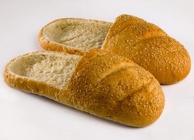 Bread Shoes = what would you stuff in these?  These things puzzle me!