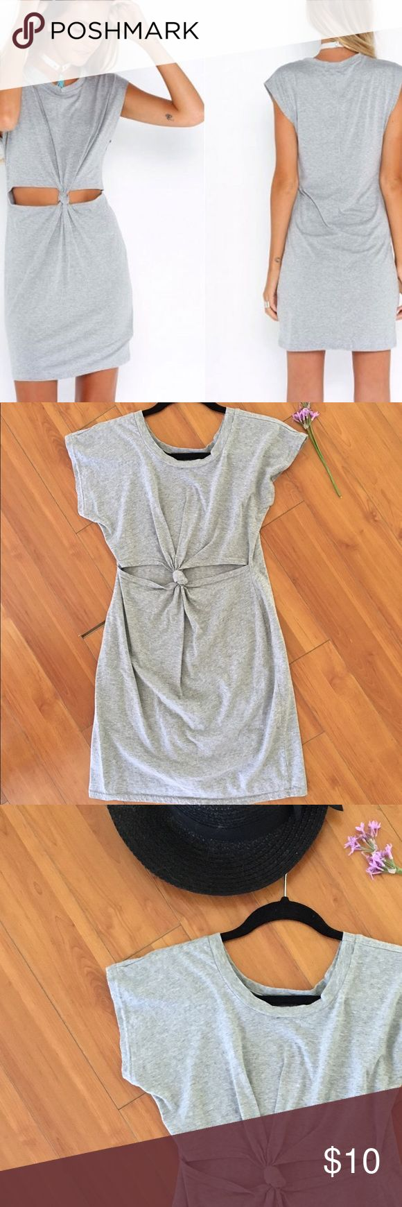 Grey casual dress 👗 Cute grey knot tied dress. Super cute as a casual or going out dress. 💕💕 Dresses
