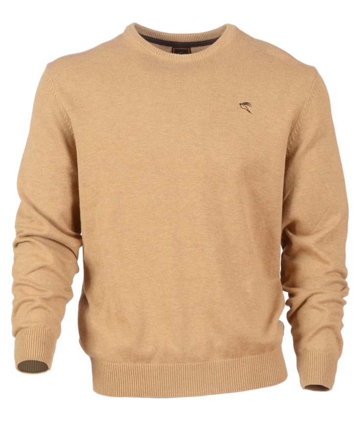 Ardboar in Caramel: This smart but versatile Crew-neck jumper in an amazing range of colours is a definite staple for any man's wardrobe. It is also machine washable so it couldn't be easier to look after.