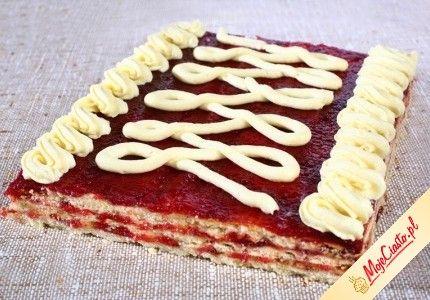 Kruchy mazurek z kremem. Kliknij, aby poznać przepis. Przepisy wielkanocne, wielkanoc, ciasta na wielkanoc, babki wielkanoc, mazurek wielkanoc.