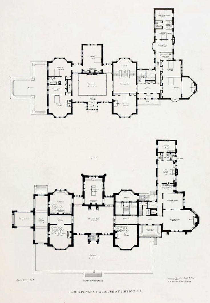 799 best floorplans images on pinterest | vintage houses, house