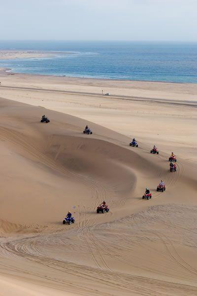 4 wheeling on the dunes at Swakopmund , Namibia