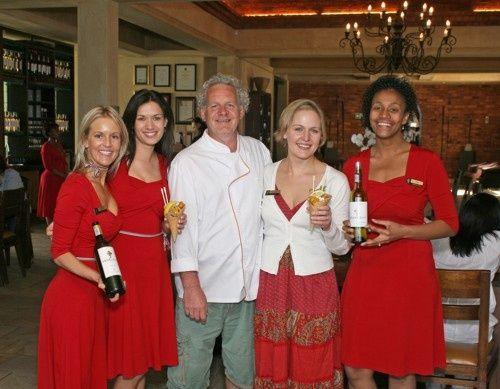 Chef Duncan Doherty Anneke Buys, Elzanne Geldenhuys,Duncan Doherty,Susan Erasmus, Lynne ...