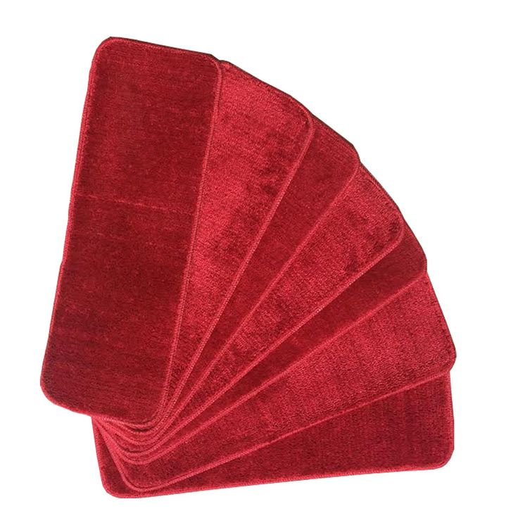 Ottomanson Ottomanson Softy Collection Contemporary Solid Design Stair Tread Rug (Set of 7) (SST53001