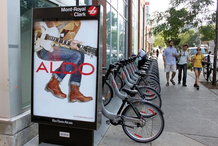 Bixi - Aldo  #StreetFurniture #Bike #Velo #Bixi #OutdoorAdvertising  #AffichageExterieur #AstralOutOfHome #AstralAffichage #Publicite #Ads #Billboard #PanneauAffichage #Montreal