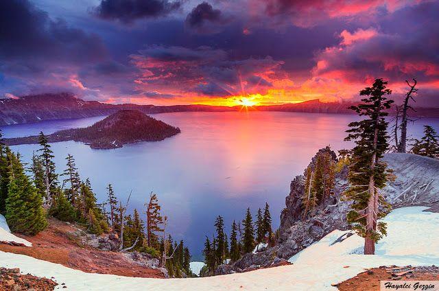 Hayalci Gezgin - Seyahat Rehberi / Travel Guide: Krater Gölü Oregon / Crater Lake, Oregon USA