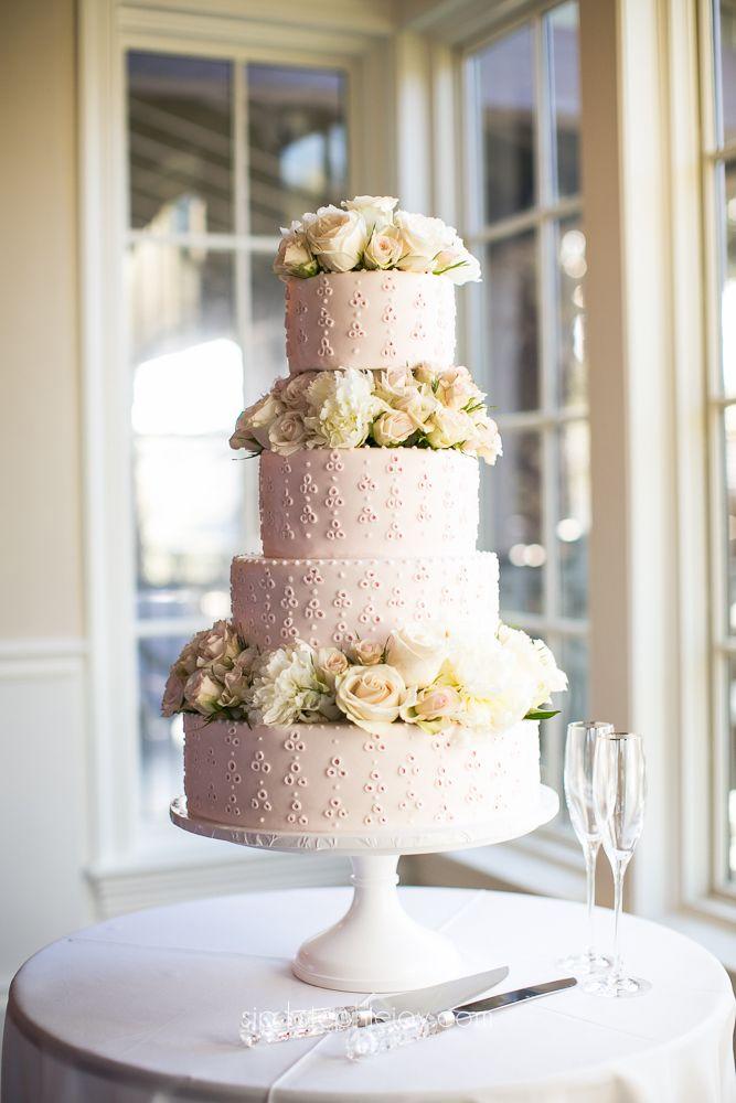 Eyelet Blush Wedding Cake Stephie Joy Photography Jacksonville And St Augustine Florida Lifestyle