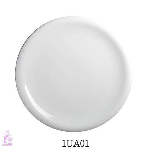 Piatto piano. Articoli per la messa in tavola linea SOLE/RADIF. Piatti interamente in porcellana bianca.