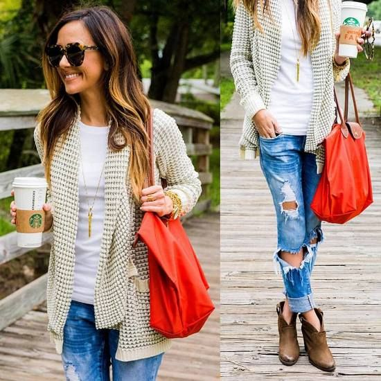 casual fall outfit, What to wear in Thanks-giving day http://www.justtrendygirls.com/what-to-wear-in-thanks-giving-day/