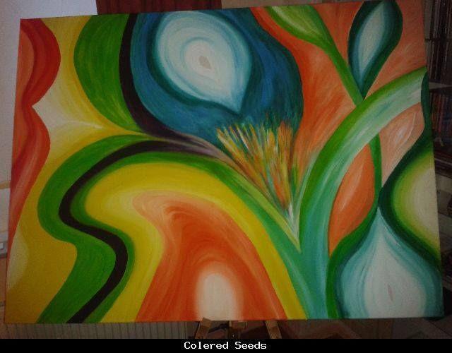 Colored seeds 2013 Acryl, 110 x 75