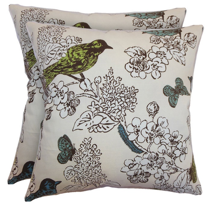 Oiseau Pillow in Seagrass (Set of 2)