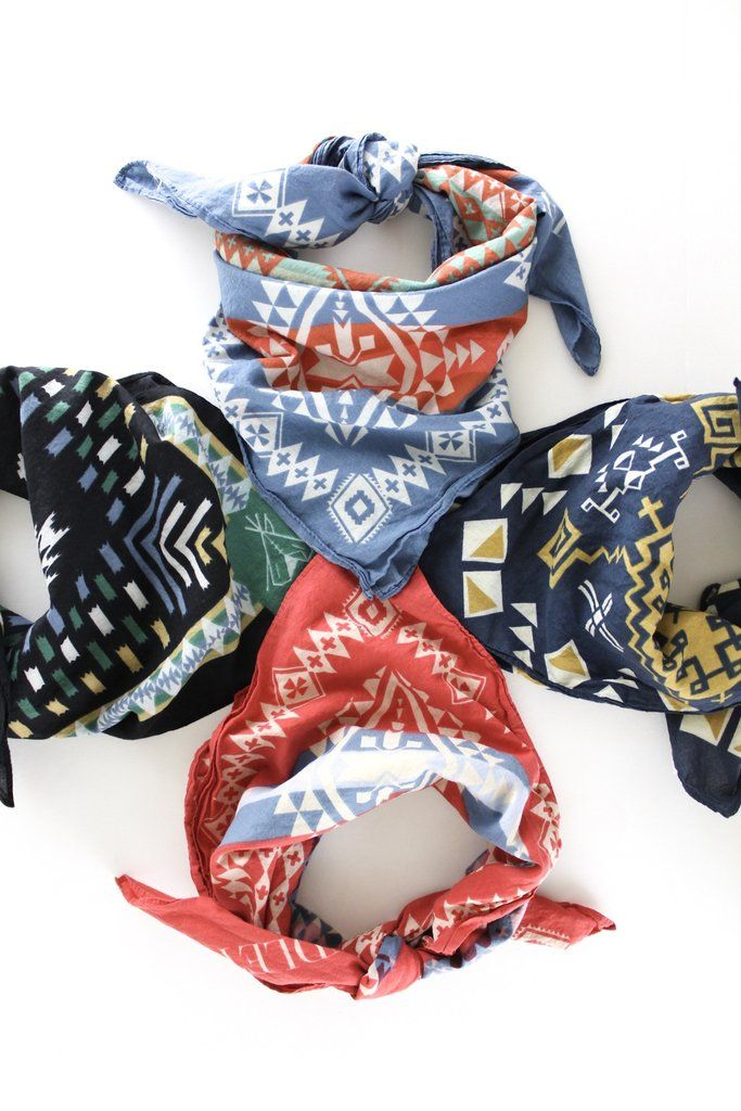 Pendleton Bandana – The Rollin' J | Pendleton's best selling bandana. 100% Cotton. 27 inches x 27 inches. Trendy western fashion. Summer style. Summer outfit inspo. Summer fashion.