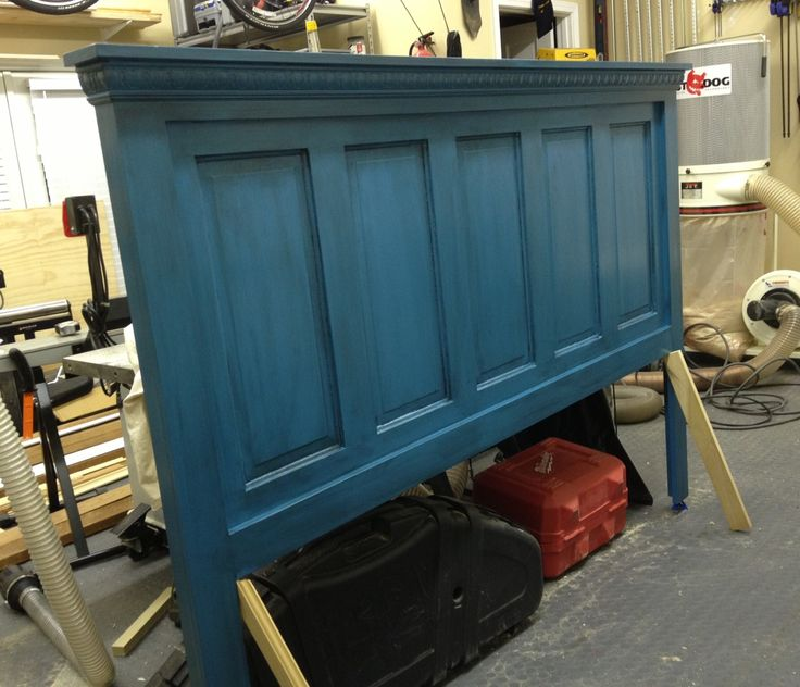 Wife wanted a head board made from old five panel door. Done. & 25+ best Door headboards ideas on Pinterest | Salvaged doors ... Pezcame.Com
