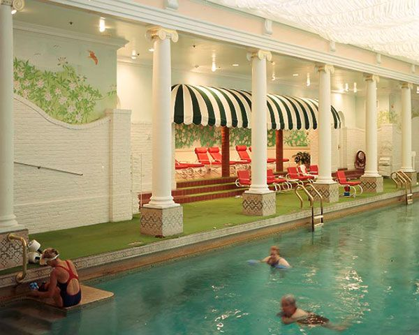 Greenbrier pool...FANCY!