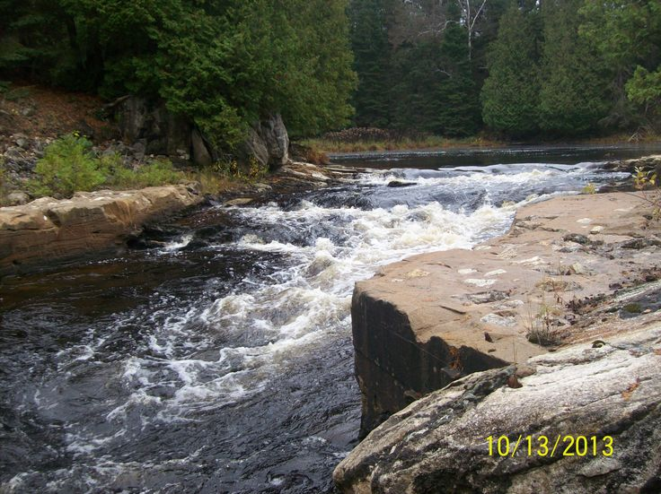 Autumn on the Seguin Rapids off Highway 518 east of orrville ont.