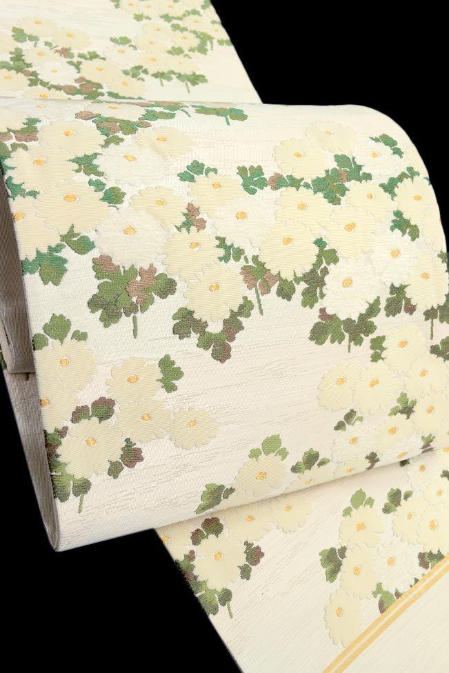 【じゅらく】 創作西陣織袋帯 「菊花尽くし」