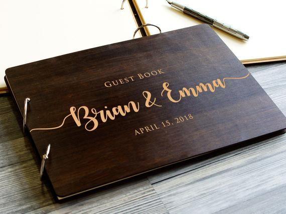 Wedding Guest Book Alternative Wood Guest Book Map Rustic Guest Book Bridal Shower Guest Book Wooden Rustic Wedding Guest Book Personalized