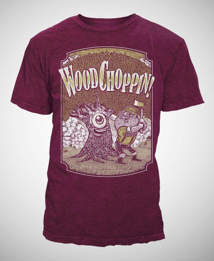 Wood Choppin - Lumberjack T-shirt - Heather Cranberry