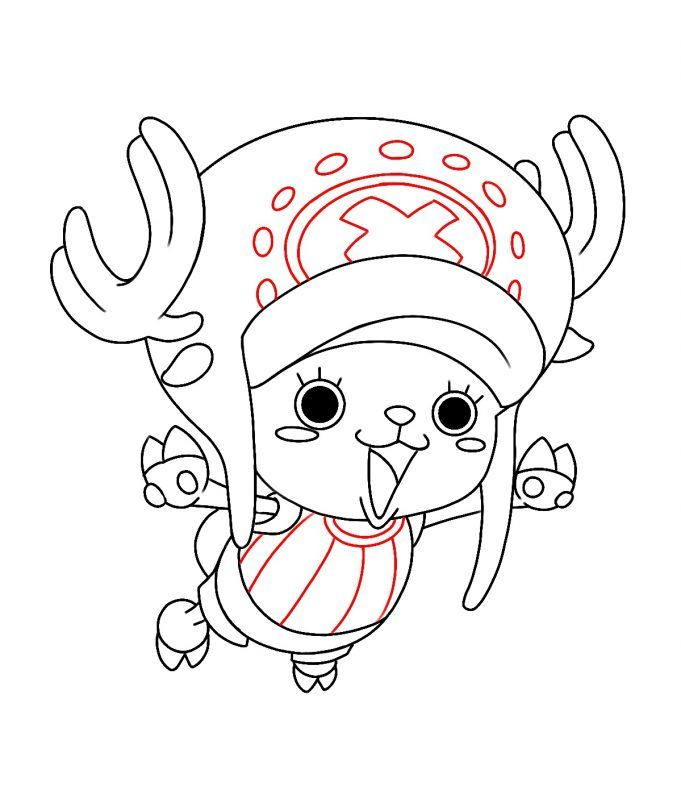 How To Draw Tony Tony Chopper From One Piece Draw Central In 2020 One Piece Drawing One Piece Chopper Drawings