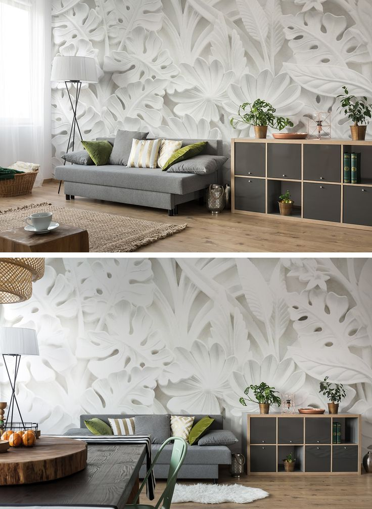 Fotomural decorativo Jardín de Alabaster es un fotomural en 3D que aumenta opticamente el interior. Si tienes una habitación pequeña o un pasillo estrecho es una opción perfecta ツ