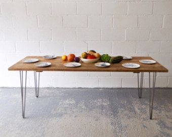 Reclaimed Wood Dining LARGE Table Industrial Rustic Vintage Scaffold Wood Table EXTRA LARGE Furniture Hairpin legs Bespoke Dining Table