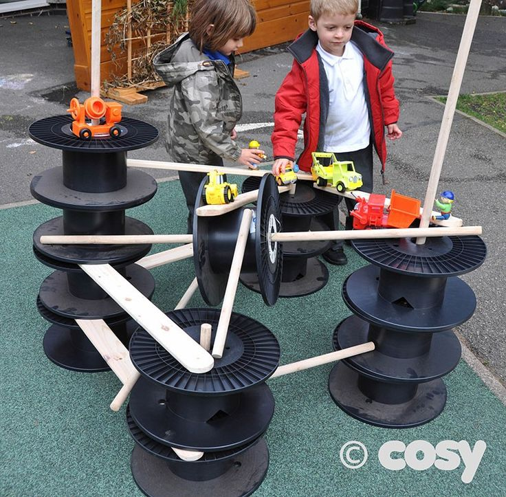 RECYCLED CABLE DRUM CONSTRUCTION KIT - Loose Parts - Early Years - Cosy Direct