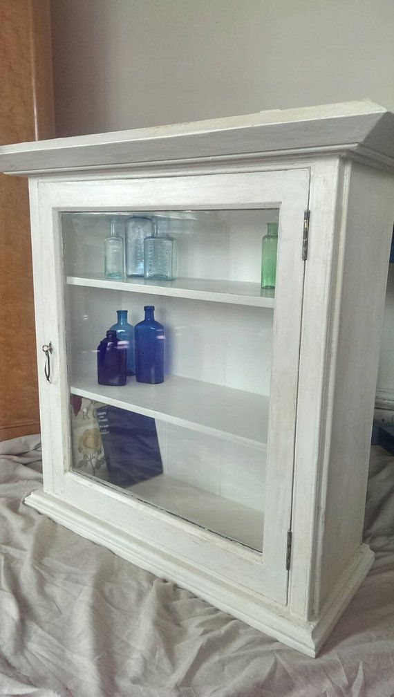White Display Cabinet by VagabondTraveller on Etsy