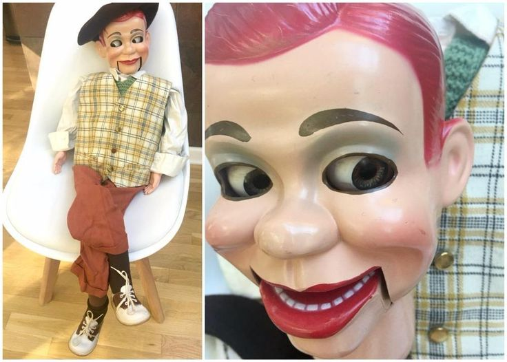 Jerry Mahoney Ventriloquist Dummy Doll Puppet Winchell Moving Eyes Mouth BONUS #Juro