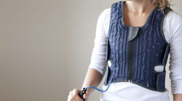 Concealed Therapy Apparel-The Squease Vest is a new tool designed to help those with Autism remain calm during stressful situations. The vest works using the principles of deep pressure therapy; a therapy system that uses hugs, tight wraps and other pressure-applying techniques to provide a calming sensation.