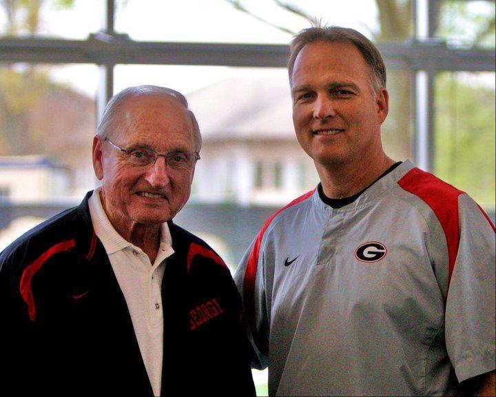 Former Head Football Coach Vince Dooley (L) & Present Head Football Coach Mark Richt, UGA