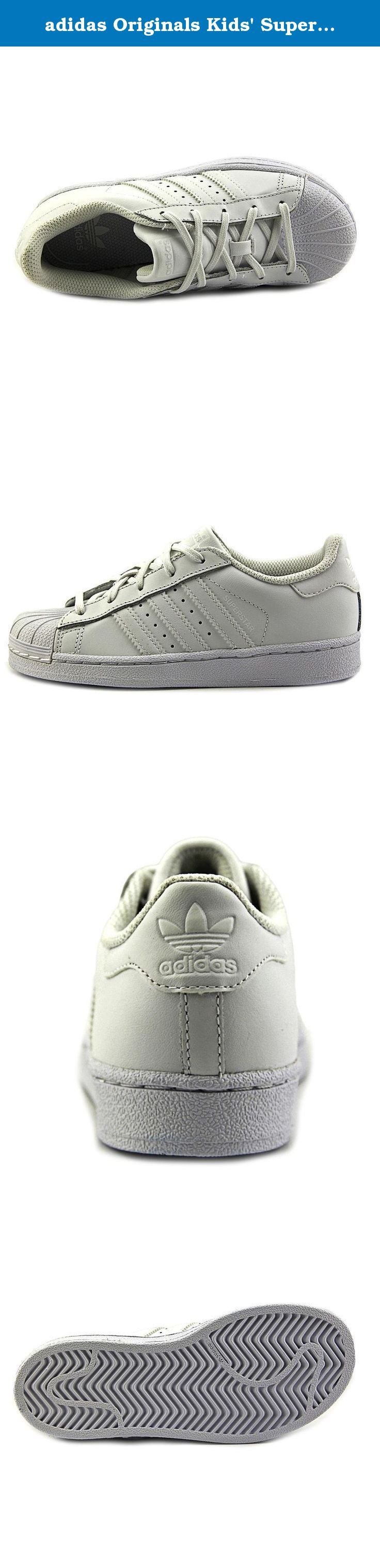 adidas Originals Kids' Superstar Foundation EL C Skate Shoe, White/White/White, 12 M US Little Kid. The clean lines and effortless style of the original adidas Superstar get scaled down for tiny feet. These toddlers' shoes feature a leather upper trimmed in all the details that made this shoe an icon. Hook-and-loop closures make for easy on and off.