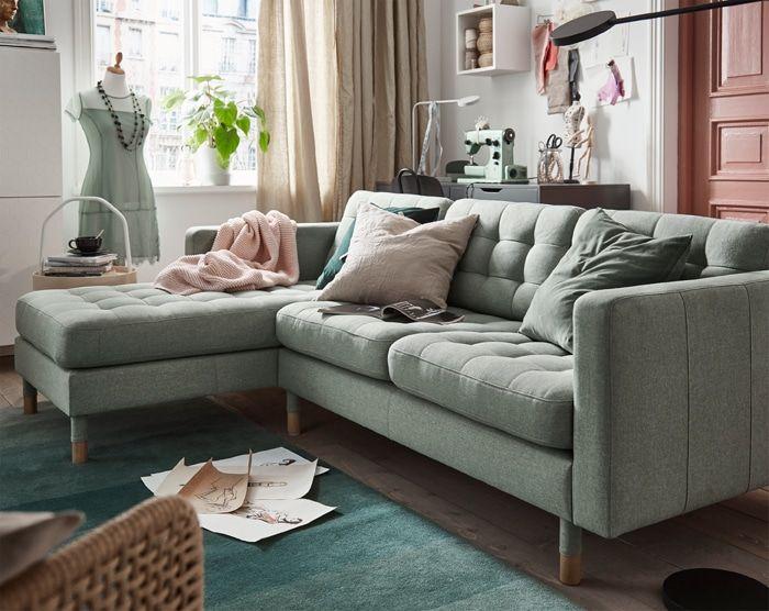 Ikea Us Furniture And Home Furnishings Green Sofa Living Room Green Couch Living Room Living Room Sofa