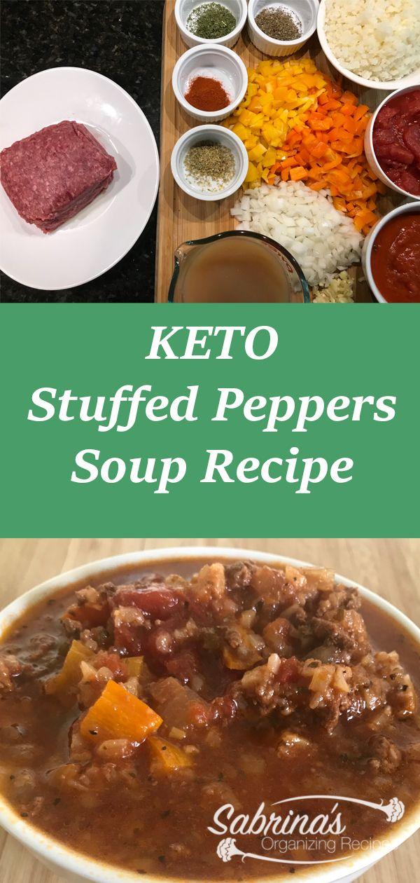 Keto Stuffed Pepper Soup Crockpot Stuffed Peppers Stuffed Pepper Soup Recipes