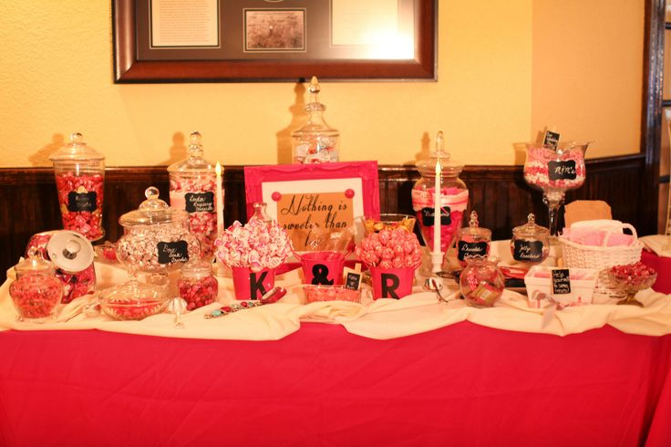 Candy bar wedding reception ideas pinterest candy table for Candy bar for weddings receptions