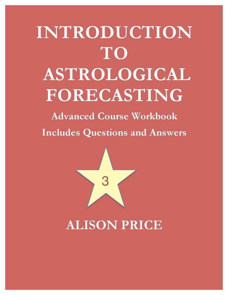 Introduction to Astrological Forecasting - Advanced course workbook, includes questions and answers - eBook