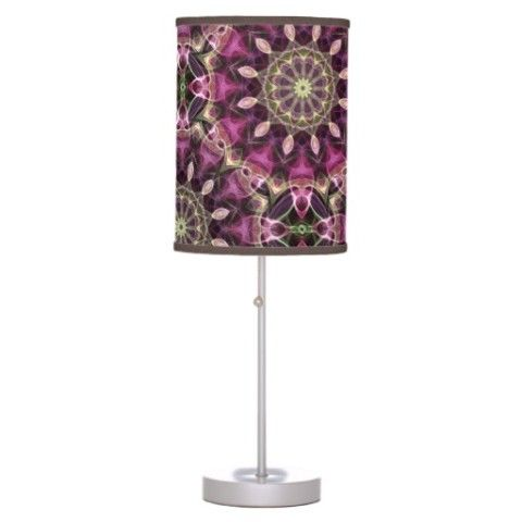 Tropical Flowers mandala pattern Desk Lamps