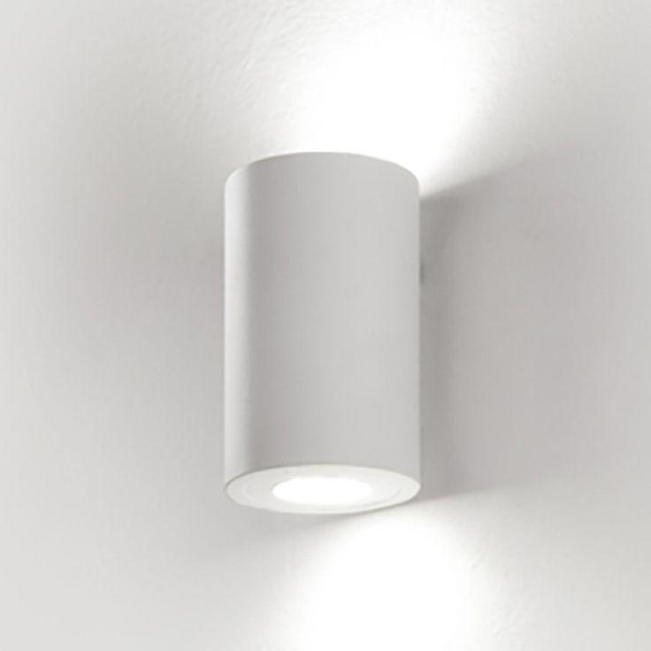 LED-Wandleuchte Indiana - Aluminium - Weiß