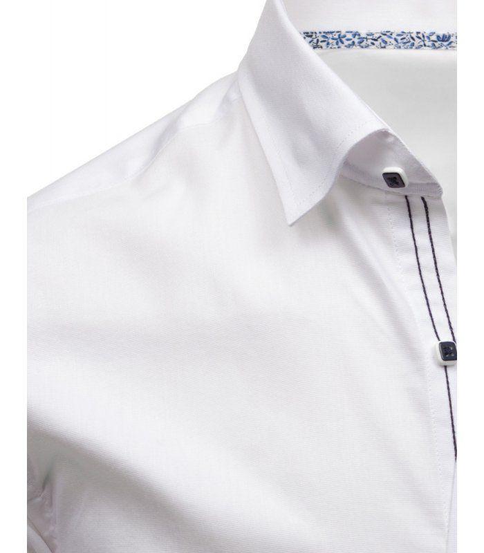 Elegantná pánska biela košela s dlhými rukávmi