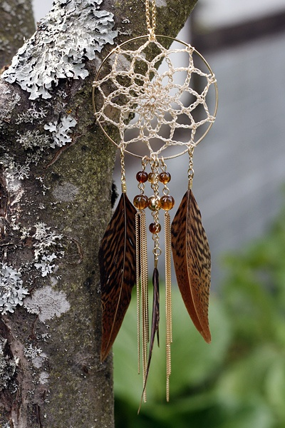 how to make dream catcher earrings step by step