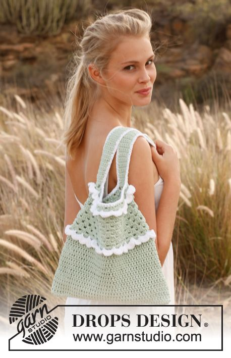 Crochet DROPS bag FREE pattern. Sweet. Thanks so xox