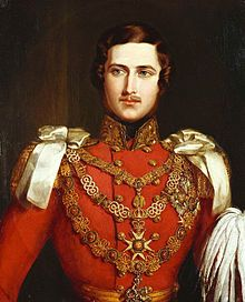 "(Francis Albert Augustus Charles Emmanuel;[1] later The Prince Consort; 26 August 1819 – 14 December 1861) was the husband of Queen Victoria of the United Kingdom of Great Britain and Ireland.  Victoria wrote, ""[Albert] is extremely handsome; his hair is about the same colour as mine; his eyes are large and blue, and he has a beautiful nose and a very sweet mouth with fine teeth; but the charm of his countenance is his expression, which is most delightful."""
