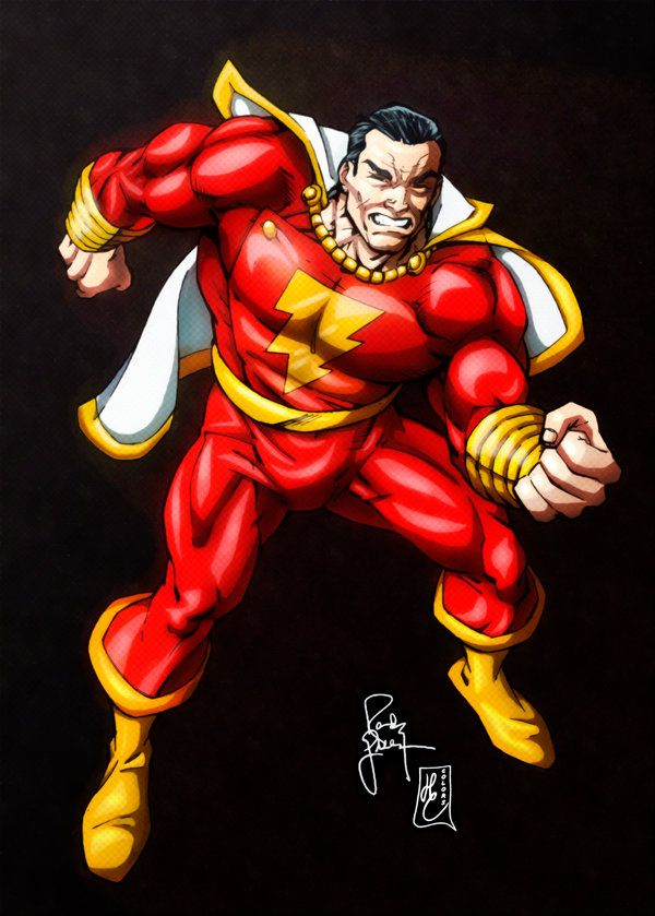 Shazam Classic Captain Marvel Colors By Fantasticmystery Captain Marvel Shazam Shazam Dc Comics Dc Comics Characters