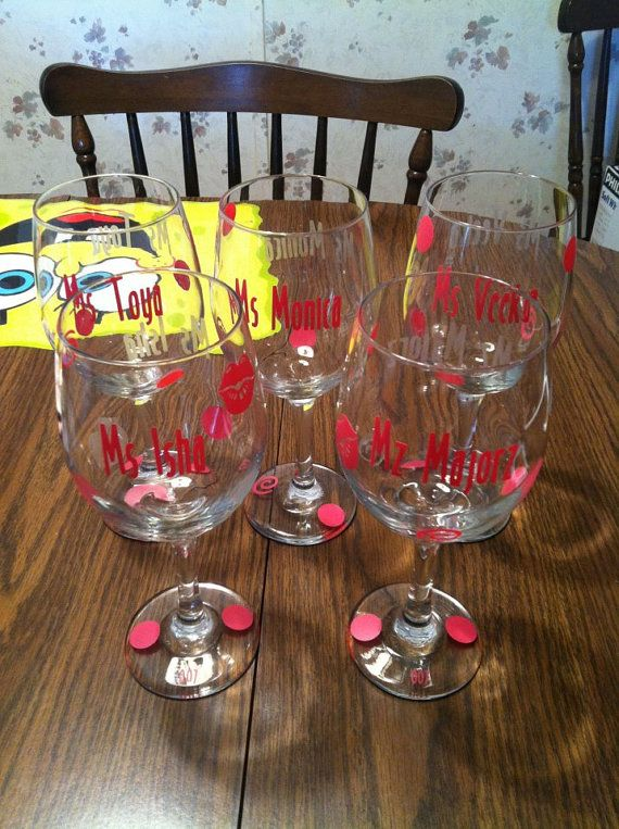 Best DIY Personalized Acrylic Tumblers Images On Pinterest - Wine glass custom vinyl stickers
