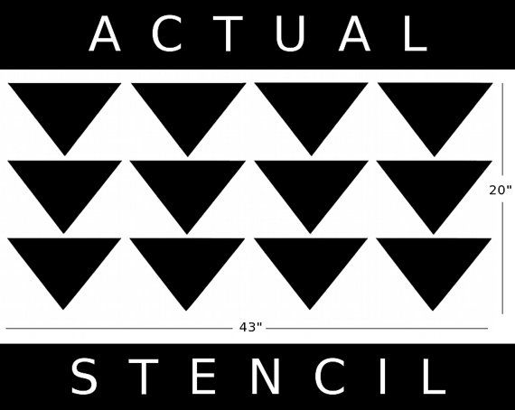allover wall stencil   mod triangle pattern   allover