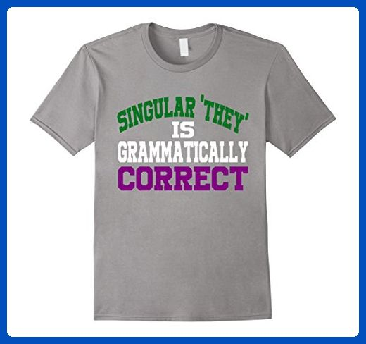 Mens Singular they is grammatically correct genderqueer flag Small Slate - Cities countries flags shirts (*Amazon Partner-Link)