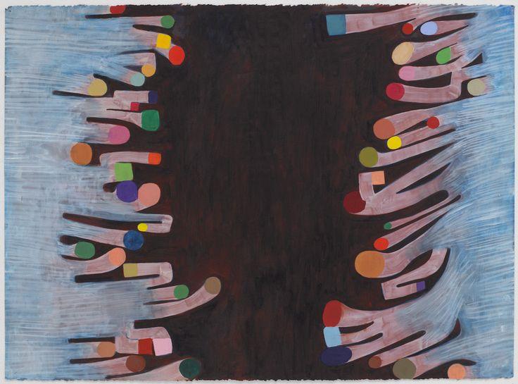 "Thomas Nozkowski, ""Untitled (L-45)"" (2014), oil on paper 22 x 30 inches"