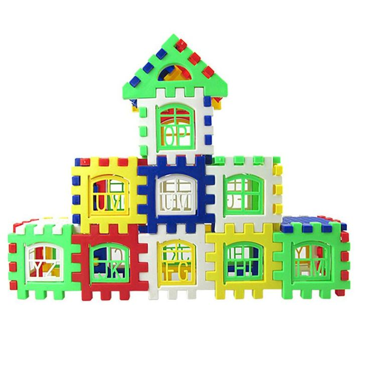 DIY 3D House Building Model Blocks Children Baby Early Learning Education Toy Assembly Square Construction Bricks Toys Gift